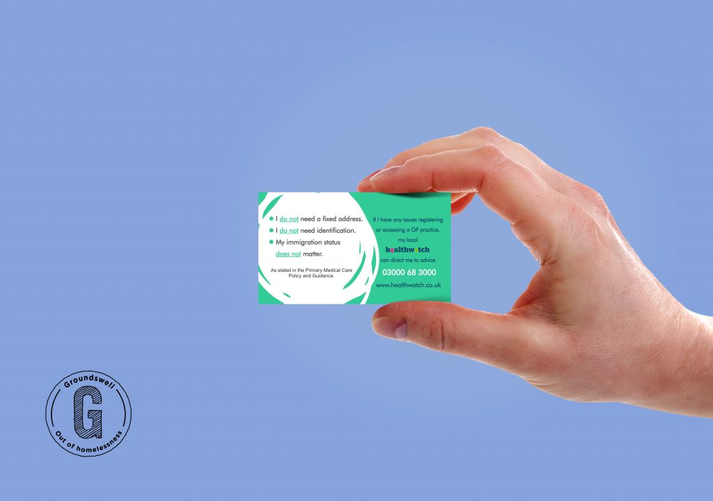 The reverse side of the my right to healthcare cards