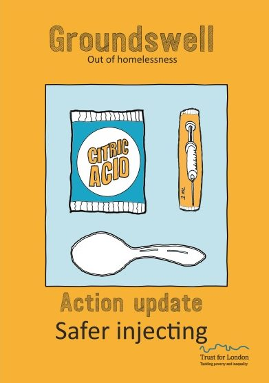 Front cover of the safer injecting action update