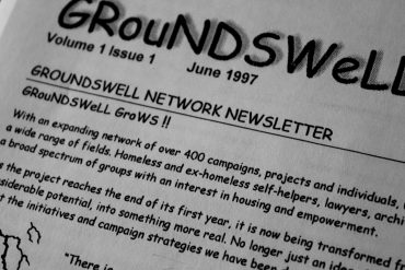 Image of the Groundswell network newsletter