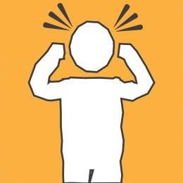 Graphic portraying a headache or migraine