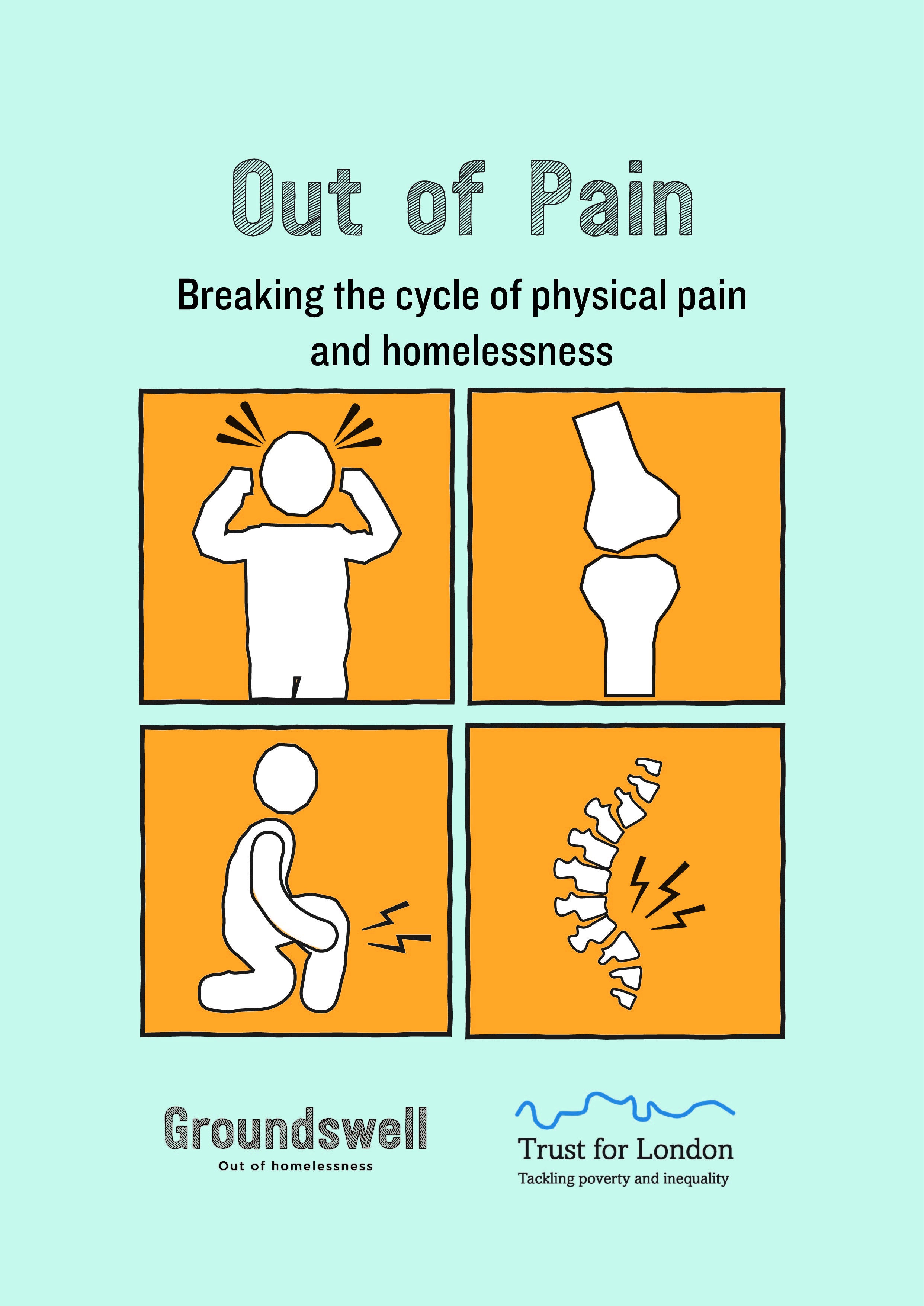 The front cover of the out of pain research report