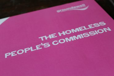 Front cover of the homeless peoples commission good summary report