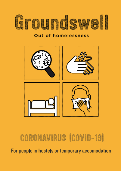 The front cover of the coronavirus advice for people in hostels or temporary accommodation