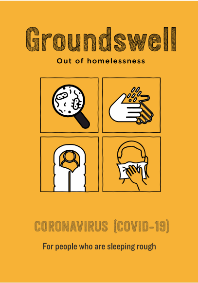 The front cover of the coronavirus advice for people who are sleeping rough